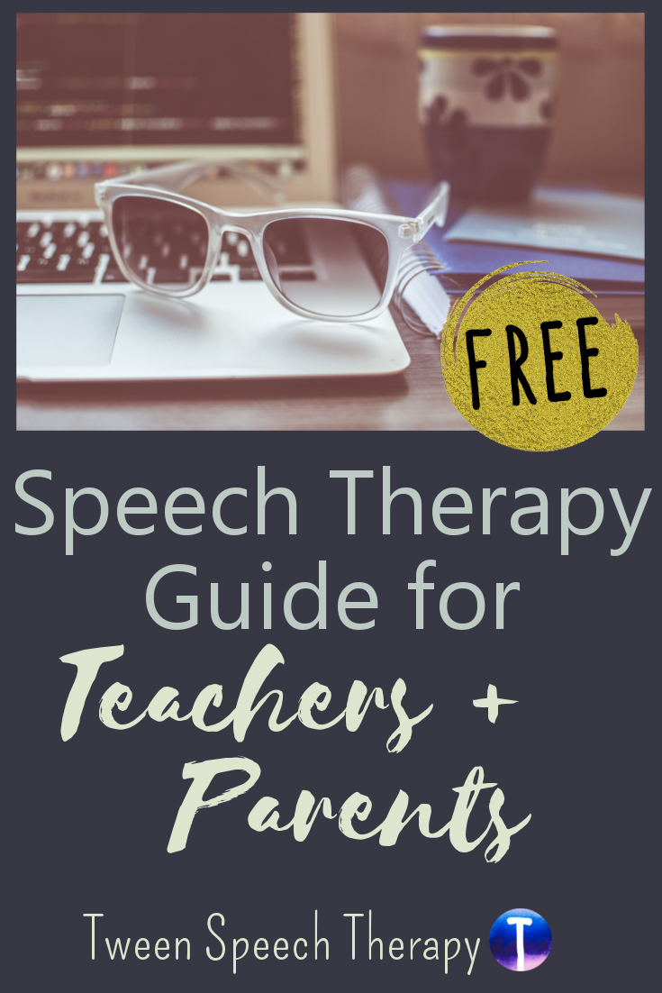 Free speech therapy guide for SLPs to give teachers and parents.