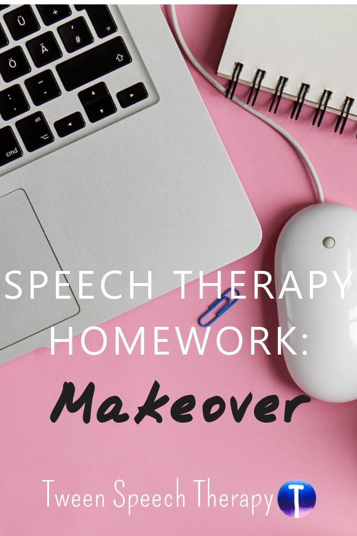 Speech Therapy Homework: Makeover