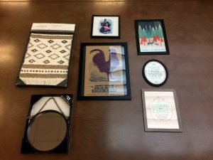 How to make a gallery wall as part of your speech room decor, by Tween Speech Therapy