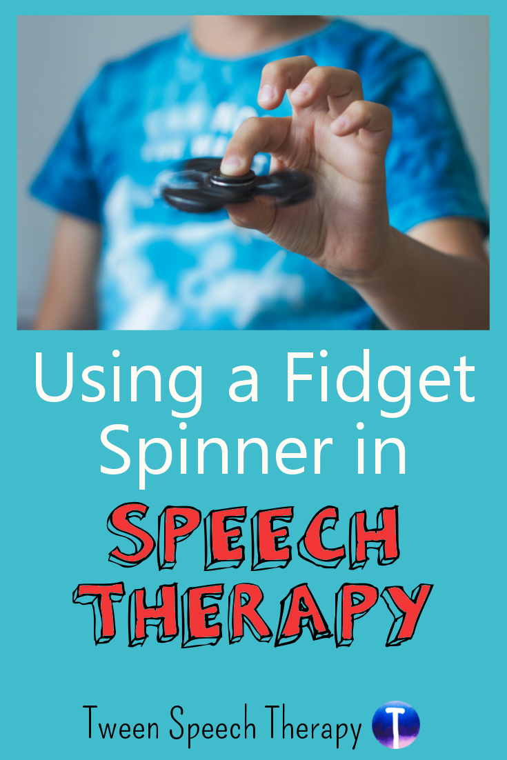 Using a Fidget Spinner in Speech Therapy