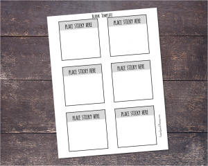 Print onto sticky notes using this template
