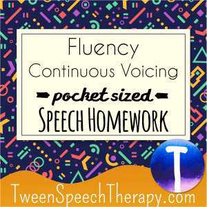Continuous Voicing Pocket Sized Speech Homework