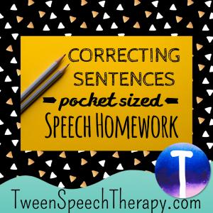 Correcting Sentences Pocket Sized Speech Homework