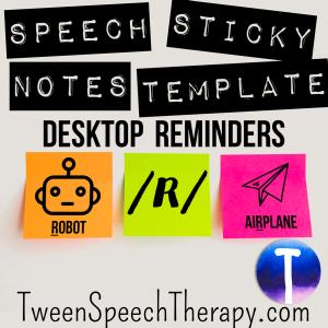 R Speech Sticky Notes Templates