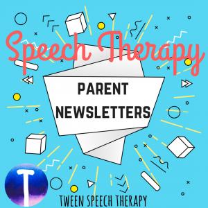 Speech parent newsletters