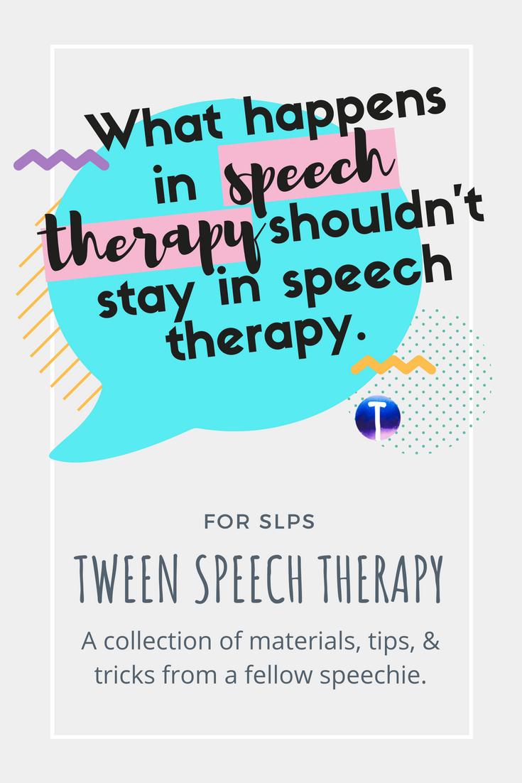 Speech therapy ideas for speech-language pathologists working with \
