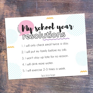 Back to school- My Resolutions