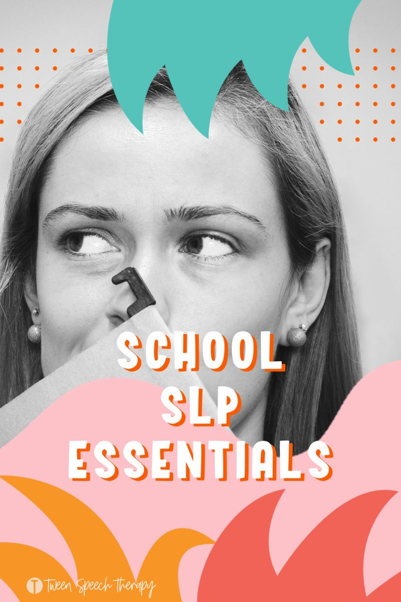 School Speech Therapy Essentials (With Freebies)
