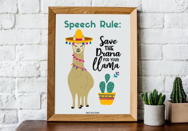 speech room decor save the drama for your llama