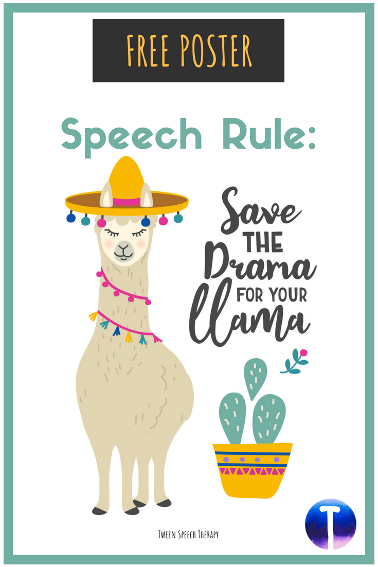Speech Room Decor Poster \