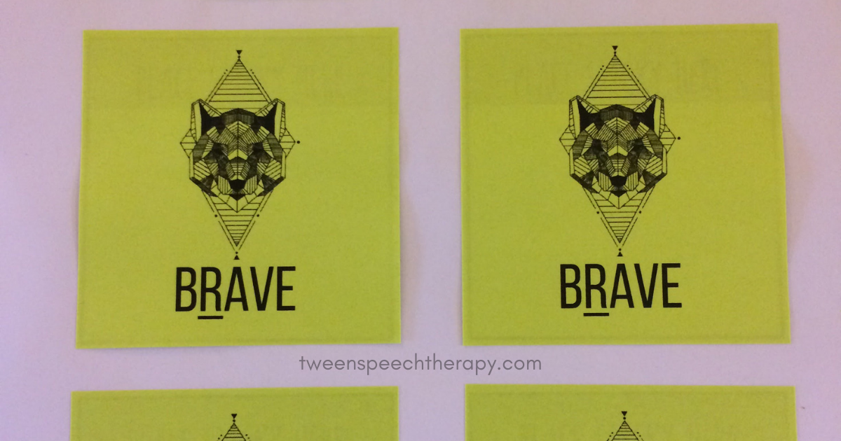 speech therapy articulation sticky notes